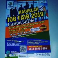Informasi penyelenggaraan JOB FAIR Tahun 2019 di Kampus Institut Stiami Kota Bekasi