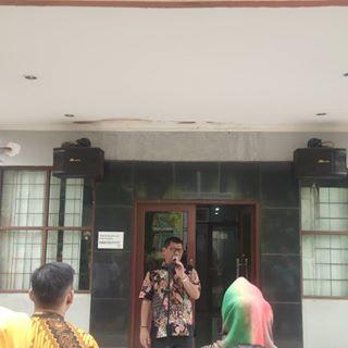 Melaksanakan Apel Pagi dalam rangka Upacara hari kesadaran Nasional seluruh setaf ASN dan Non ASN di Lingkup Dinas Tenaga Kerja Kota Bekasi, 19 September 2019